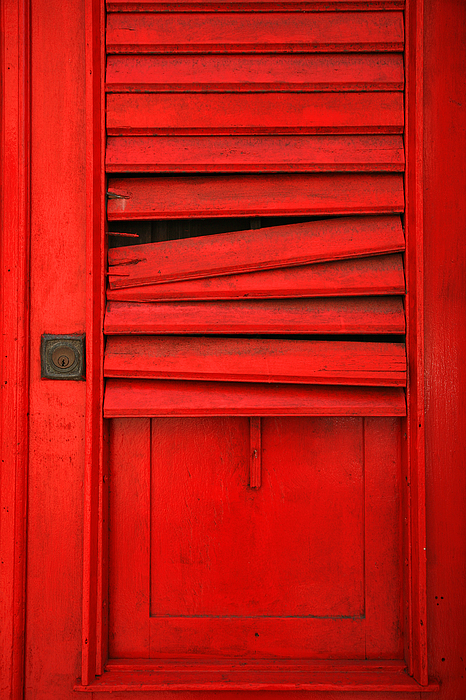 Red Photograph - Red Shutter by Timothy Johnson