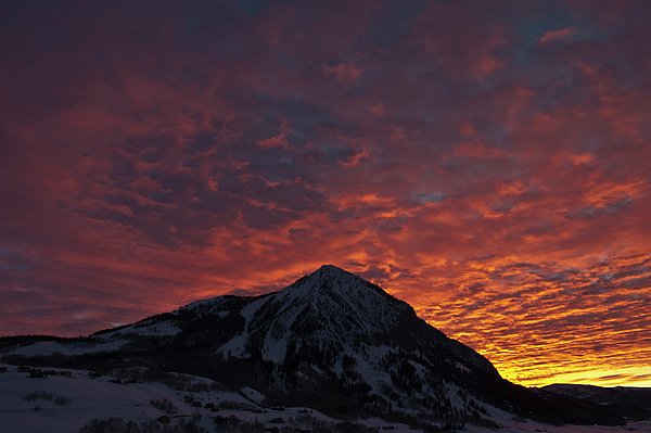 Crested Butte Photograph - Red Sky At Morning by Dusty Demerson