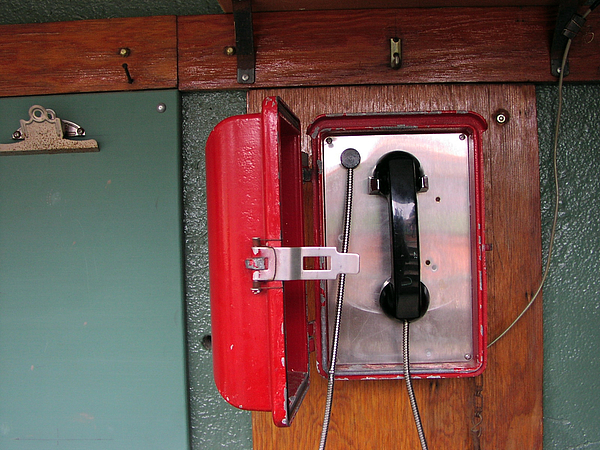Sports Photograph - Red Sox Dugout Phone by Mike Martin