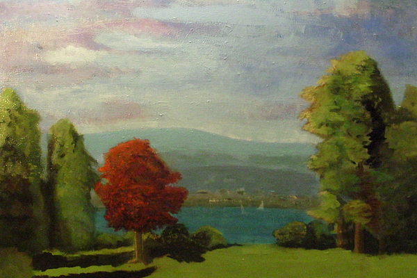 Landscape Painting - Red Tree by David Taylor