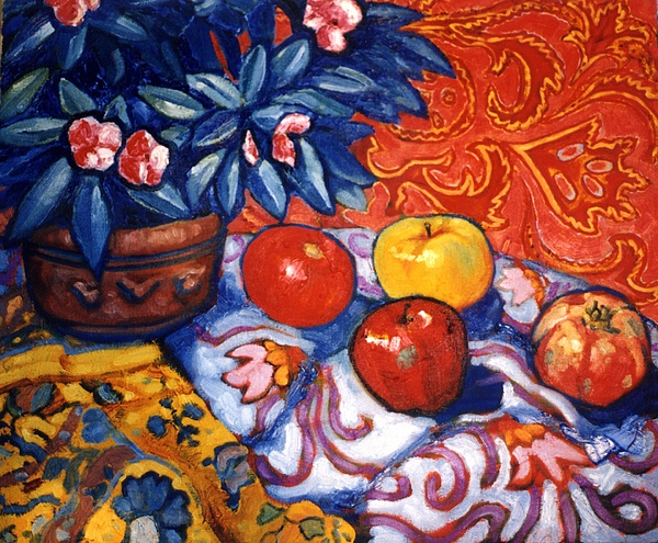 Still Life Painting - Red Wallpaper by Paul Herman