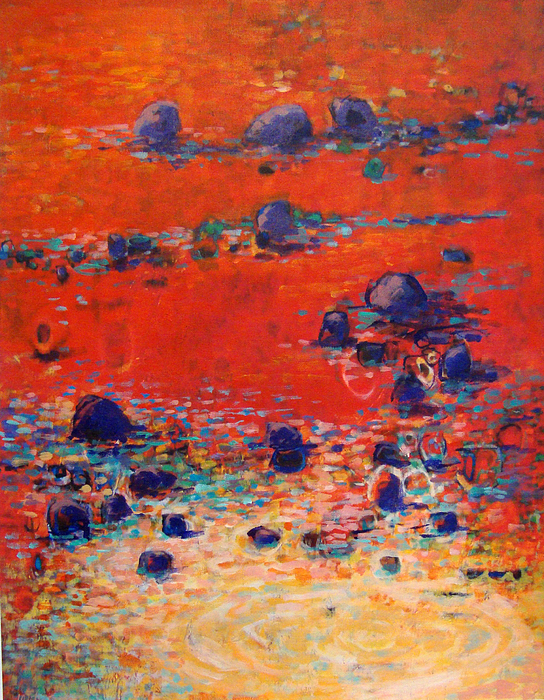 Landscape Painting - Red Waters by Dale  Witherow