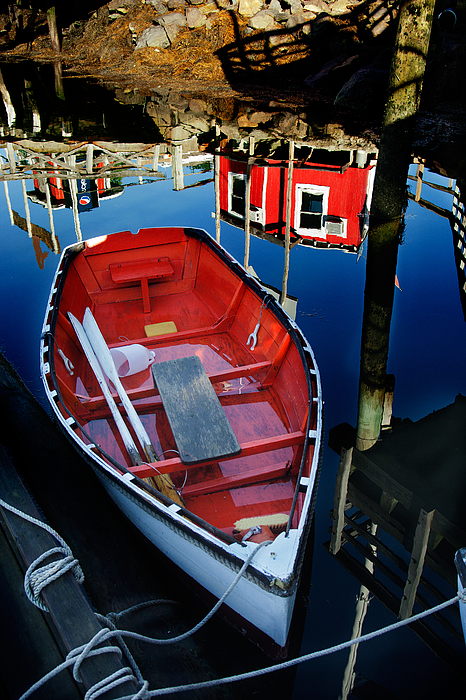 Boothbay Harbor Photograph - Red White And Blue by Ron St Jean