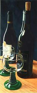 Photorealism Painting - Red Wine by Denis Eutikhiev