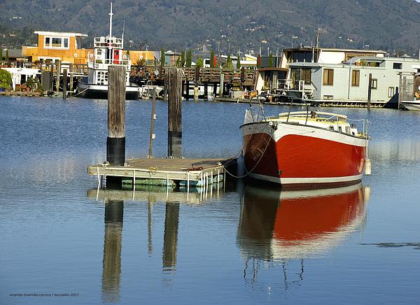 Photograph - Redboat by Vari Buendia