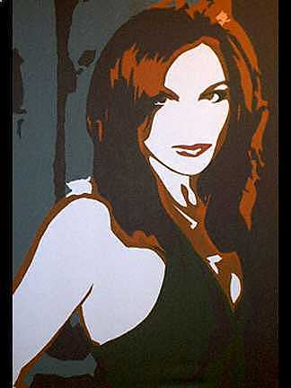Women Painting - Redhead by Michael James Toomy