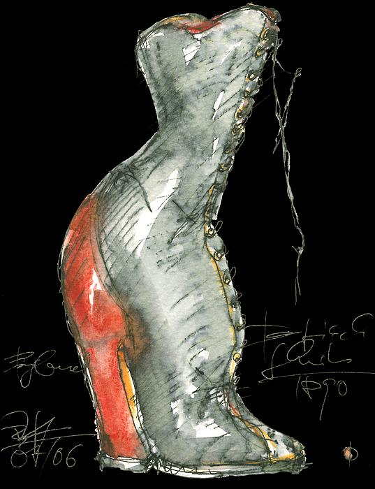 Paintings Painting - Redshoe by Joerg Bernhard Klemmer