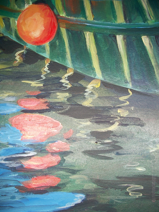 Bouys Painting - Reflecting by Mickey Bissell