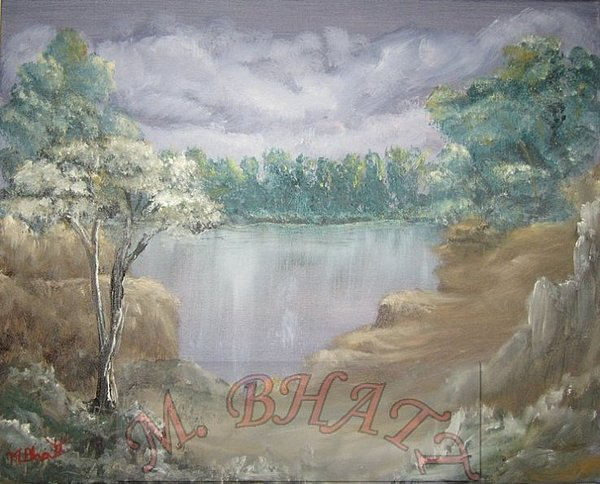 Nature Painting - Reflection by M Bhatt