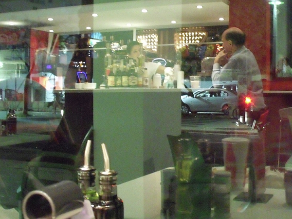 San Juan Photograph - Reflection Of Man Drinking A Beer II by Anna Villarreal Garbis