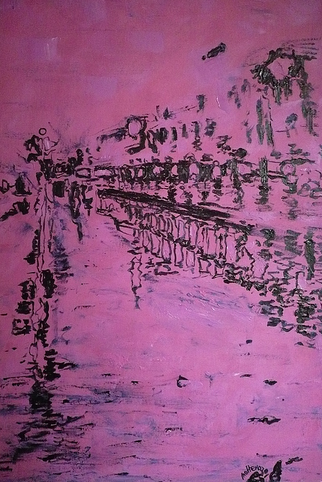 Reflection Painting - Reflection On Rose by Ericka Herazo