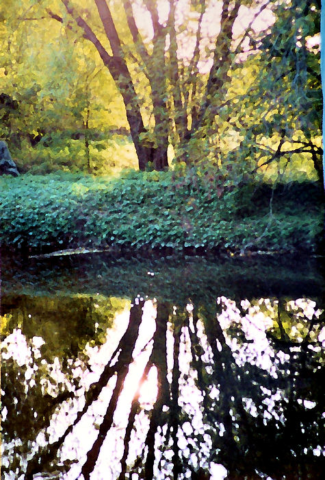 Landscape Photograph - Reflections At Wyeth by Ellen Lerner ODonnell