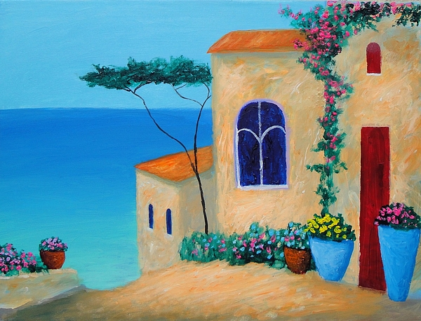 Reflections By The Sea Painting by Larry Cirigliano