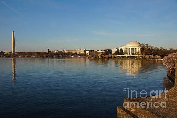 Washington Memorial Photograph - Reflections  by Megan Cohen