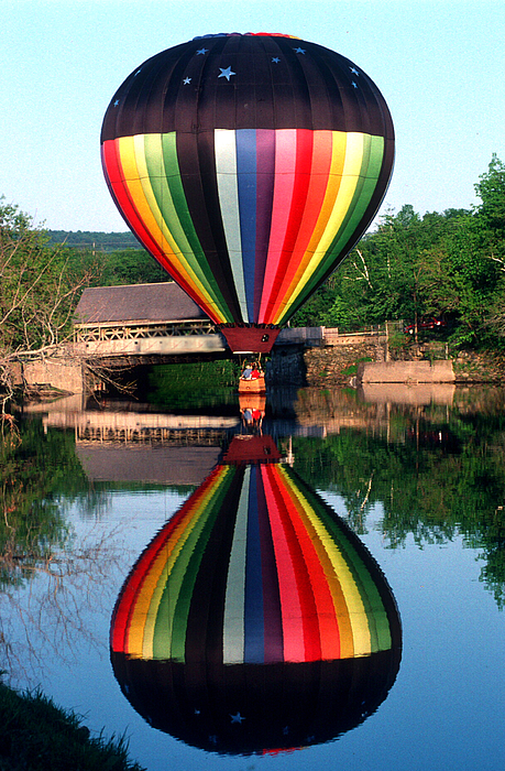 Hot Air Balloon Photograph - Reflections Of A Balloonist by Jim DeLillo