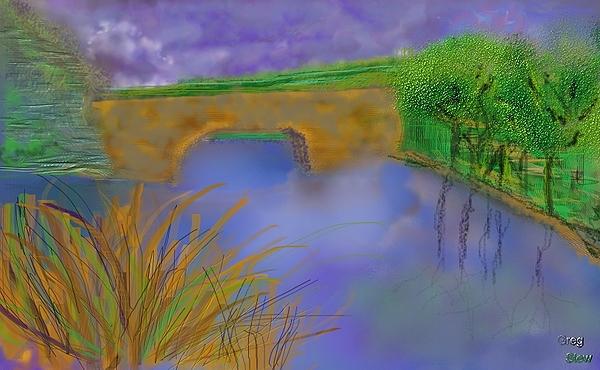 Bridge Digital Art - Reflections Of A Bridge On A Clear Day by Gregory Steward