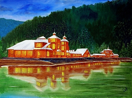 Landscape Painting - Reflexions Of Puyuhuapi by Walter Pierluissi