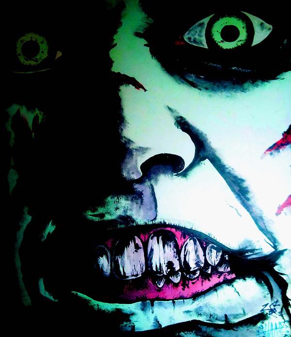 Demon Painting - Regan Exorcist by Sam Hane
