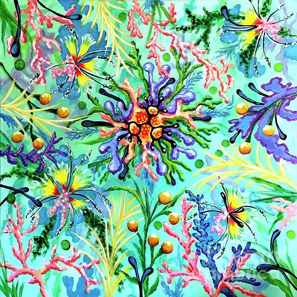 Amoeba Painting - Regenerate by Sandra Lett