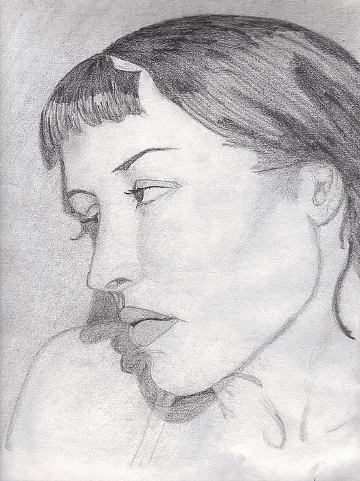 Woman Drawing - Regret by Jean Haynes
