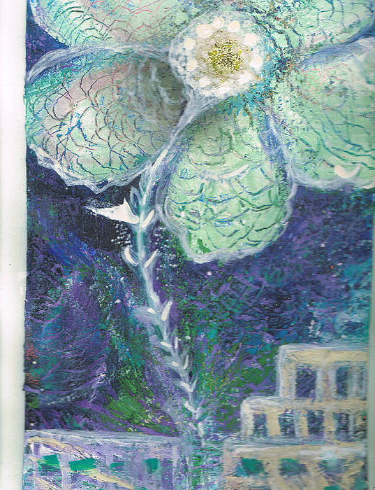 Blue Painting - Release Me by Anne-Elizabeth Whiteway