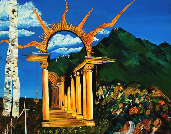 Climategate Painting - Religion And Nature by Gregory Allen Page