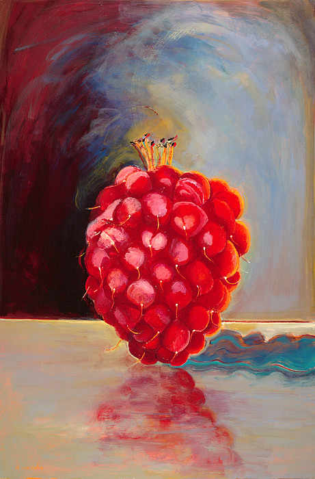 Fruit Painting - Remarkable Raspberry by Diane Woods