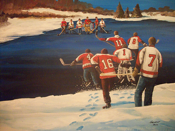 Phiadelphia Flyers Painting - Rematch 2010 - The Bullies Are Back by Ron  Genest