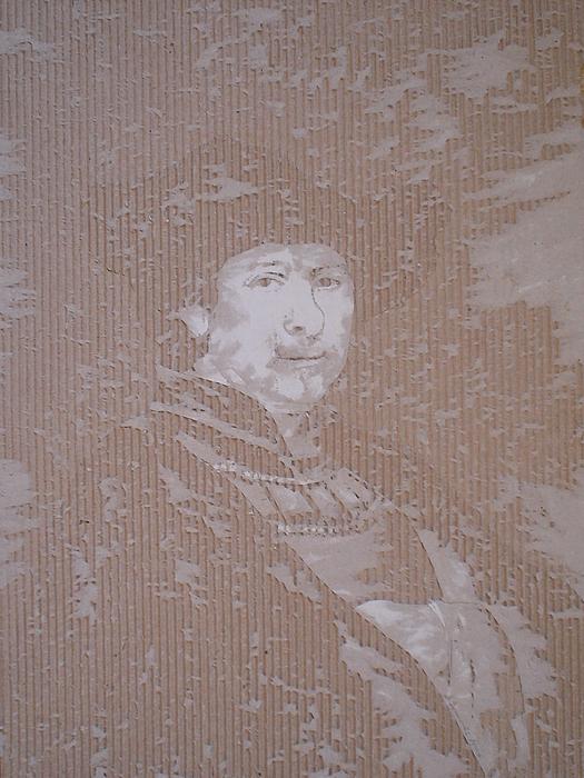 Cardboard Drawing - Rembrandt Zelfportret  by Dragan  Despotovic