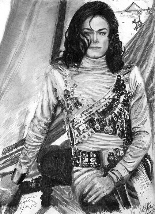 Mj Drawing - Remember The Time by Carliss Mora