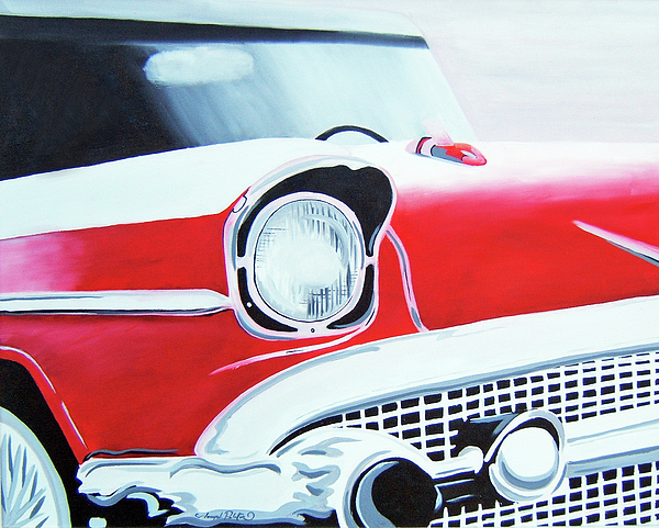 Red Car Painting - Remember When  by Joseph Palotas