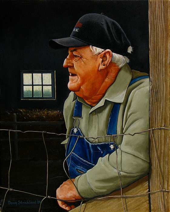 Farm Painting - Remembering Old Maude by Doug Strickland