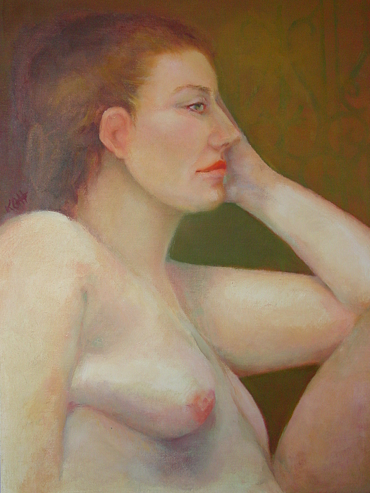 Portrait Painting - Renaissance Nude  Copyrighted by Kathleen Hoekstra