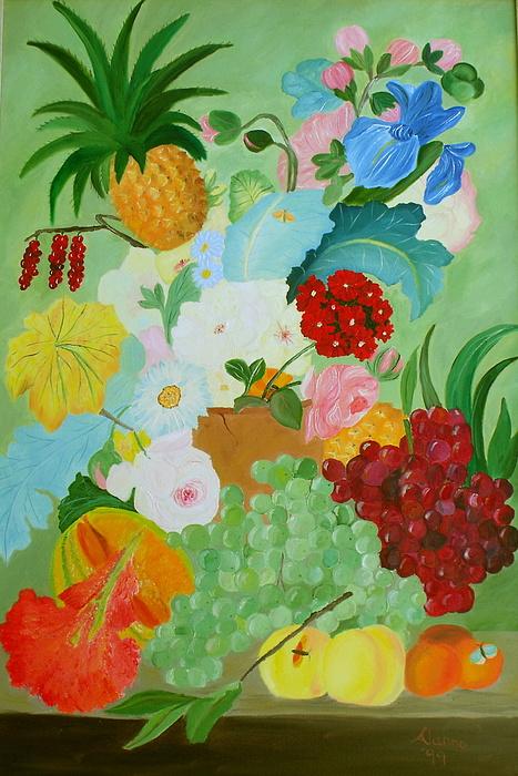Flowers Painting - Renaissance Pleasure by Alanna Hug-McAnnally