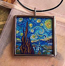 Landscape Painting - Rendition Of Starry Night 2 by Dana Marie