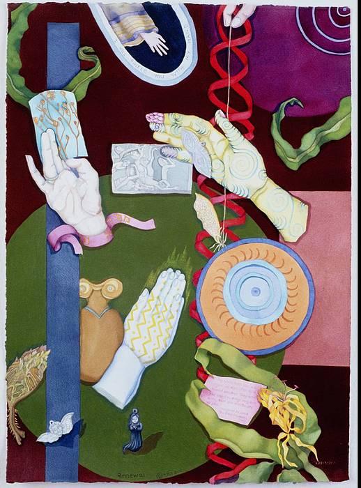 Hands Mixed Media - Renewal by Beth Shadur