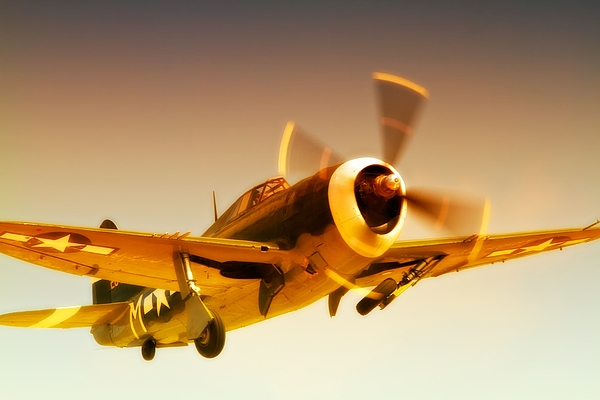Airplane Photograph - Republic P-47 Thunderbolt 2011 Chino Air Show by Gus McCrea