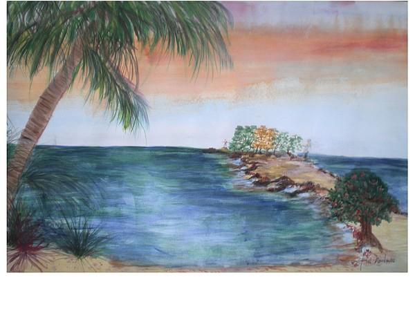 The Atlantic Ocean Painting - Resort The Keys by Hal Newhouser