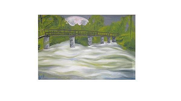 Landscape Painting - Resteigne Pont Du Moulin by Dirk Ghys