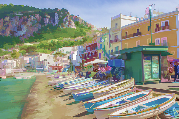 Lisa Lemmons-Powers - Resting Boats in Capri