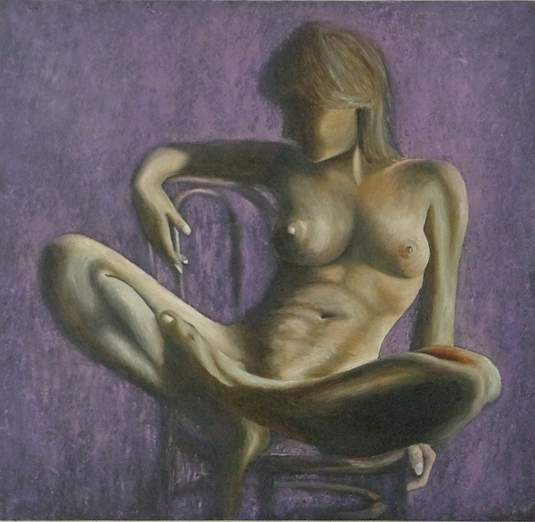 Nude Painting - Resting by Monty Perales