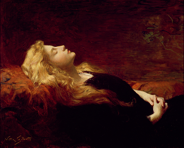 Sleeping Beauty Painting - Resting by Victor Gabriel Gilbert