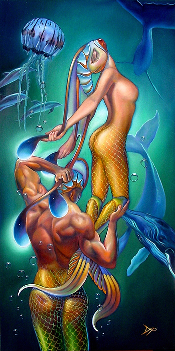 Mermaid Painting - Resurrection by Patrick Anthony Pierson