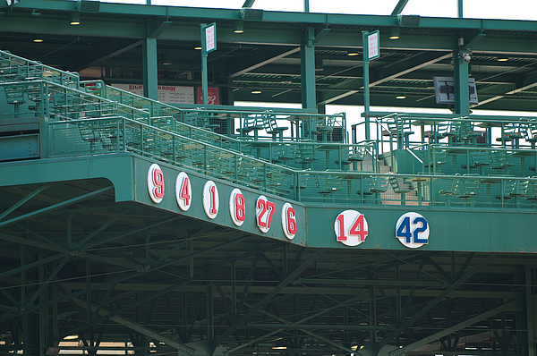 boston Red Sox  - Retired Numbers by Paul Mangold