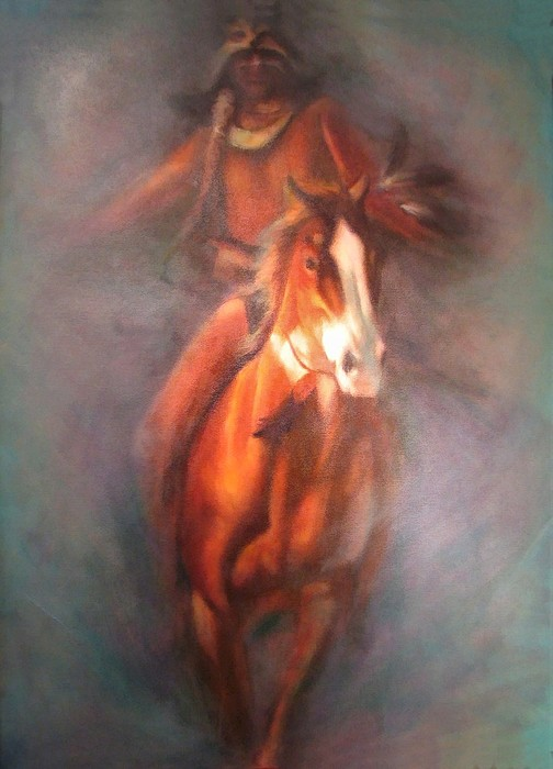Native American Painting - Return Of The Warrior by Elizabeth Silk