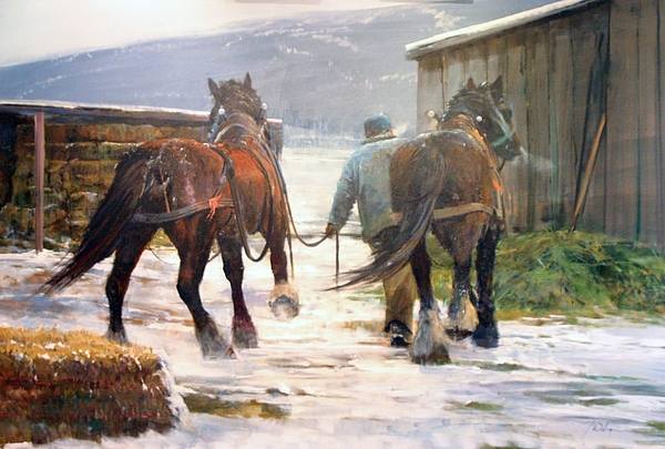 Return To The Barn Painting by Gil Dellinger