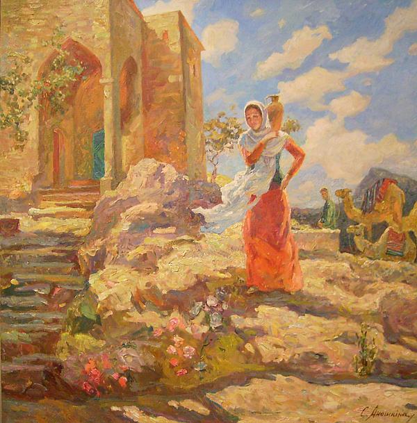 Subject Picture Painting - Revekka Near The Well by Svetlana Anoshkina
