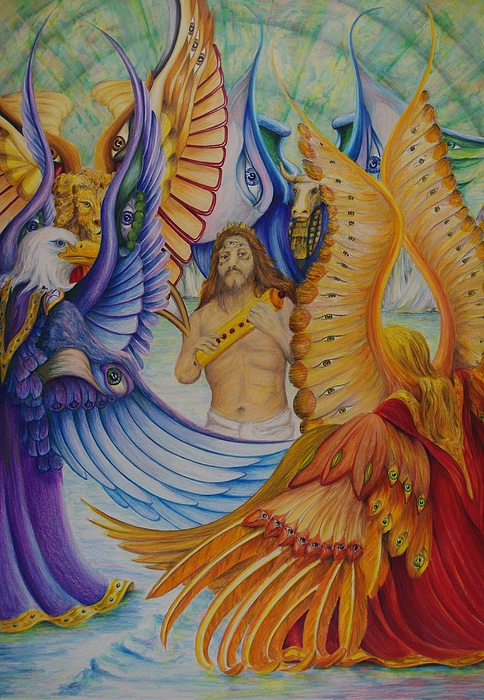 Figure Painting - Revelation Five by Rick Ahlvers