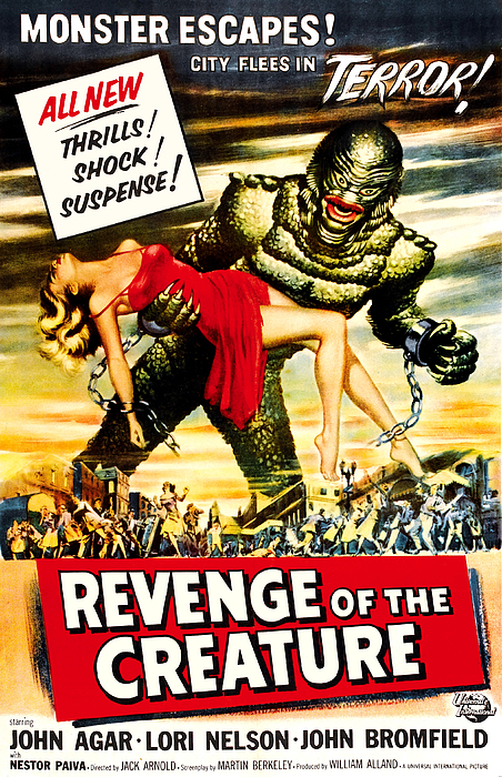 1955 Movies Photograph - Revenge Of The Creature, 1955 by Everett