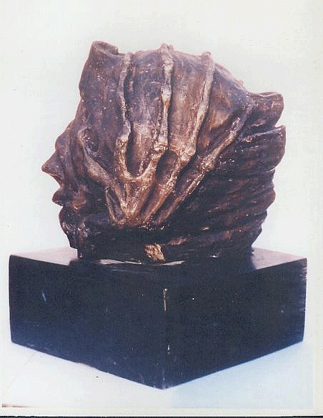 Sculpture Sculpture - Revolution - II - Side View by Rooma Mehra